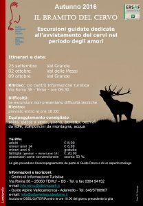 Locandina Bramito cervo 2016 - versante camuno BS
